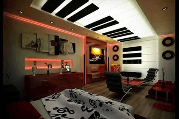 Fabric false ceiling designs for bedroom