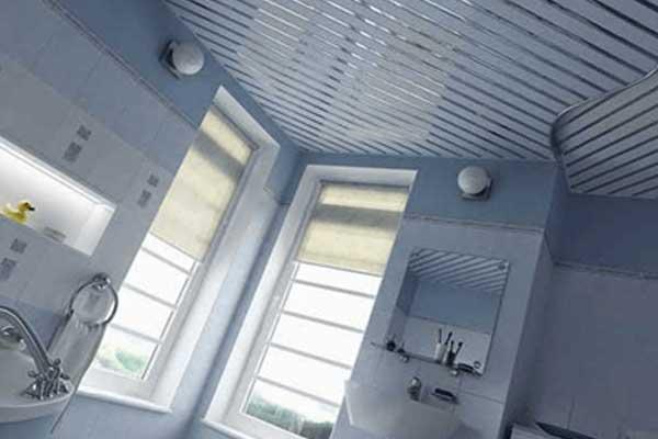 Aluminium suspended ceiling systems for modern bathroom