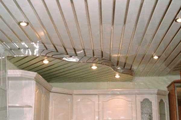 False ceiling system of aluminium for kitchen