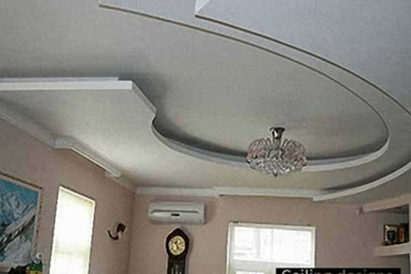 Gypsum bedroom suspended ceiling systems with crystal chandelier