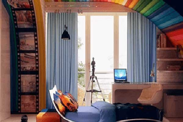 False ceiling designs of fabric for bedrooms