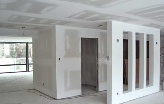 gypsum board wall panelling